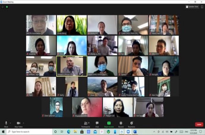Regular Meetings Held With Hong Kong Instructors Via Zoom